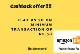 50 RS Cashback Offer on Amazon Pay