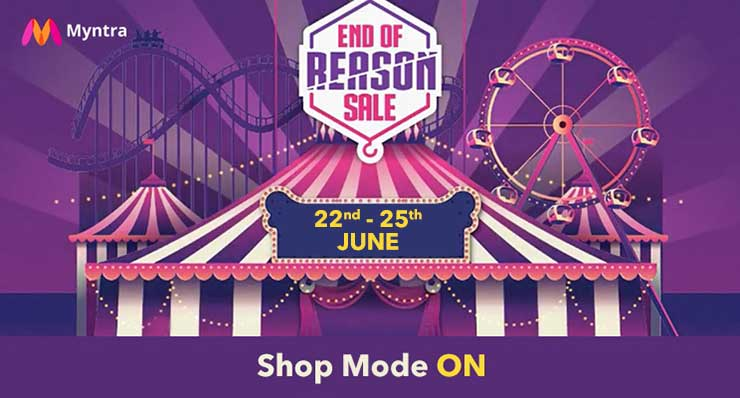 Myntra End Of Reason Sale 22nd to 25th