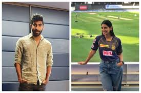 Jasprit Bumrah and Sanjana Ganesan