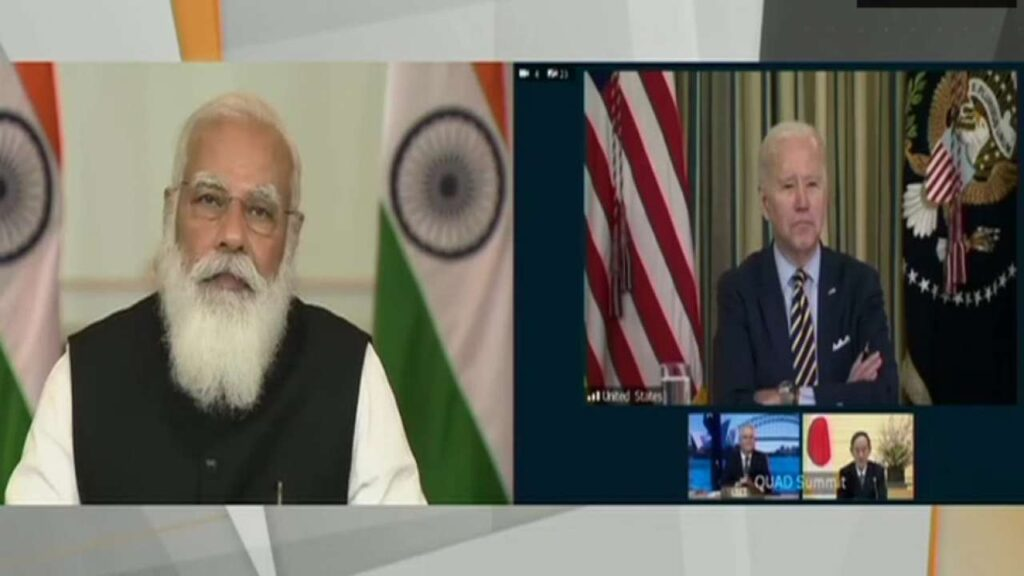 PM Modi in the quad summit
